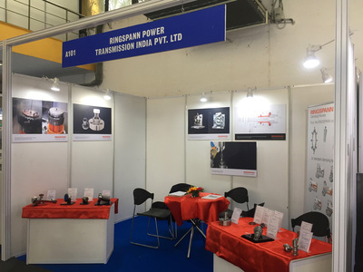 Our booth (Hall A, stand A101) at Machine Tool Expo in Pune